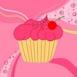 Ejemplo del vector de la torta linda Foto de archivo libre de regalías