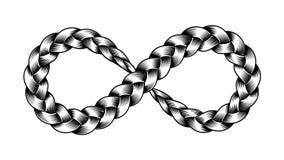 Ejemplo del vector de la trenza de la cinta del símbolo del infinito