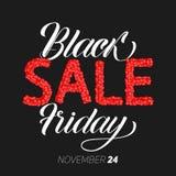 Ejemplo del vector de la venta de Black Friday Con el texto manuscrito de Black Friday Venta construida de esferas rojas abstract Libre Illustration