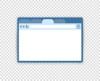 Ejemplo del vector de la ventana del explorador Web, interfaz Estilo plano Página social, concepto de los medios Transparente ais libre illustration