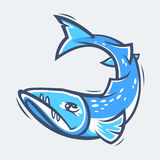Ejemplo del vector de la vida marina de la barracuda Stock de ilustración