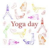 Ejemplo del vector de la yoga ilustración del vector