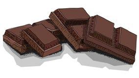 Ejemplo del vector de las barras de chocolate del dibujo Fotos de archivo libres de regalías