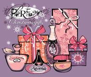 Ejemplo del vector de las botellas del porfume Fotografía de archivo libre de regalías