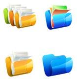 Ejemplo del vector de las carpetas Stock de ilustración