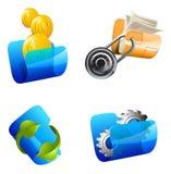 Ejemplo del vector de las carpetas Libre Illustration