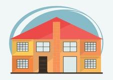 Ejemplo del vector de las casas coloridas de la historieta linda para la venta o el alquiler Ejemplo plano de los edificios del v Fotografía de archivo libre de regalías