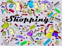 Ejemplo del vector de las compras Imagenes de archivo