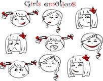 Ejemplo del vector de las emociones de los niños ilustración del vector