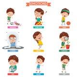 Ejemplo del vector de las emociones del niño ilustración del vector