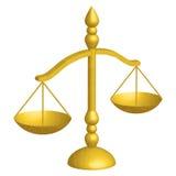 Escalas de la justicia Imagenes de archivo