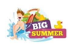 Ejemplo del vector de las etiquetas del verano Foto de archivo libre de regalías