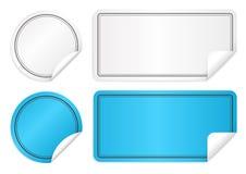 Ejemplo del vector de las etiquetas engomadas de papel libre illustration