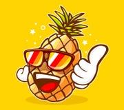 Ejemplo del vector de las gafas de sol coloridas de la piña del inconformista Foto de archivo libre de regalías