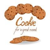 Ejemplo del vector de las galletas Fotografía de archivo libre de regalías