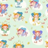 Ejemplo del vector de las hadas de las muchachas Hada con a Foto de archivo
