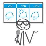 Ejemplo del vector de las noticias del invierno del tiempo