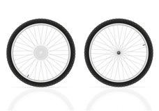 Ejemplo del vector de las ruedas de bicicleta Imagenes de archivo