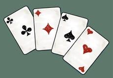 Ejemplo del vector de las tarjetas de los as Imágenes de archivo libres de regalías
