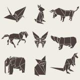 Ejemplo del vector de los animales de papel de la papiroflexia Imagen de archivo libre de regalías