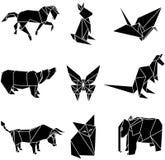 Ejemplo del vector de los animales de papel de la papiroflexia Fotos de archivo libres de regalías
