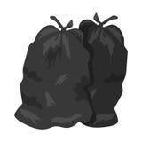 Ejemplo del vector de los bolsos de basura Imagenes de archivo