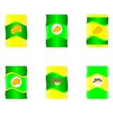 Ejemplo del vector de los bolsos del microprocesador Foto de archivo