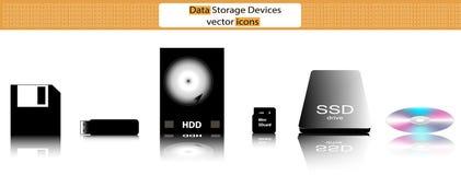 Ejemplo del vector de los dispositivos de almacenamiento de los datos Fotos de archivo libres de regalías