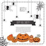 Ejemplo del vector de los elementos del diseño de Halloween Foto de archivo libre de regalías