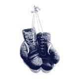Ejemplo del vector de los guantes de boxeo del vintage Imagen de archivo