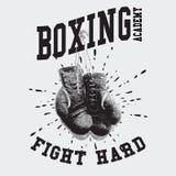 Ejemplo del vector de los guantes de boxeo del vintage Foto de archivo