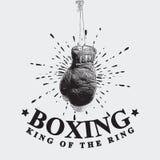 Ejemplo del vector de los guantes de boxeo del vintage Fotos de archivo