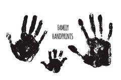Ejemplo del vector de los handprints de la familia stock de ilustración