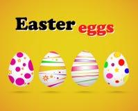 Ejemplo del vector de los huevos de Pascua coloridos Imagenes de archivo