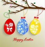 Ejemplo del vector de los huevos de Pascua coloridos del papel Fotografía de archivo libre de regalías