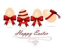 Ejemplo del vector de los huevos de Pascua con los arcos Fotografía de archivo libre de regalías