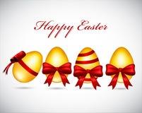 Ejemplo del vector de los huevos de Pascua de oro Imágenes de archivo libres de regalías