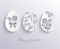 Ejemplo del vector de los huevos de Pascua del Libro Blanco Fotografía de archivo libre de regalías