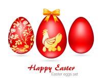Ejemplo del vector de los huevos de Pascua fijados Fotografía de archivo libre de regalías