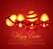 Ejemplo del vector de los huevos de Pascua hermosos Imágenes de archivo libres de regalías