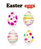 Ejemplo del vector de los huevos de Pascua pintados coloridos Fotos de archivo libres de regalías