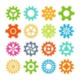 Ejemplo del vector de los iconos del engranaje Foto de archivo