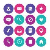 Ejemplo del vector de los iconos del negocio. Imagenes de archivo