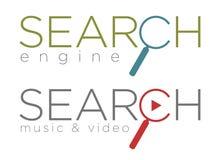 Ejemplo del vector de los iconos del Search Engine Fotografía de archivo libre de regalías