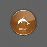 Ejemplo del vector de los iconos del uso del océano Fotografía de archivo libre de regalías