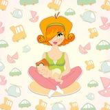Ejemplo del vector de los juguetes de los niños Día de madres Fotografía de archivo libre de regalías