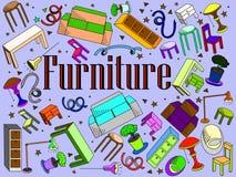 Ejemplo del vector de los muebles Fotografía de archivo libre de regalías