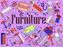 Ejemplo del vector de los muebles Imagenes de archivo