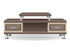 Ejemplo del vector de los muebles de la tabla de la TV Foto de archivo