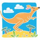 Ejemplo del vector de los niños del pequeño canguro Fotos de archivo